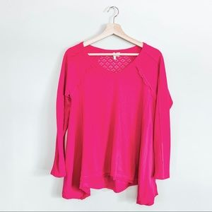 Cato Bright Pink Asymmetrical Top